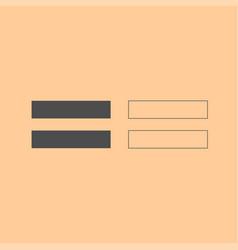 sign equally dark grey set icon vector image