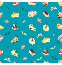 Sweet turquoise pattern vector image vector image