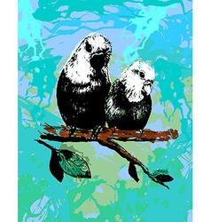 Two birds parrots in eps vector