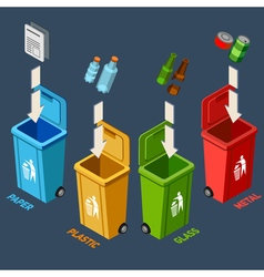 Waste Management Isometric Concept vector image vector image