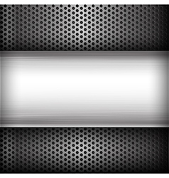 Polished steel texture on hold metal abstract vector