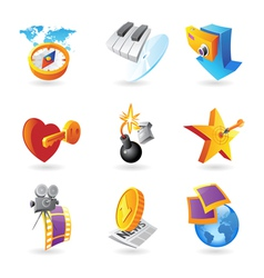 Icons for leisure vector