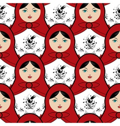 Matryoshka doll pattern vector