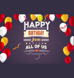 stylish greetings happy birthday creative card vector image