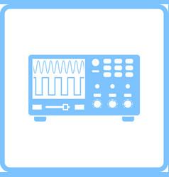 oscilloscope icon vector image