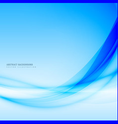 Beautiful blue background with flowing smooth wave vector