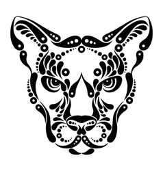 Puma tattoo vector image