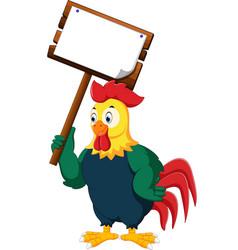 Cartoon chicken rooster vector
