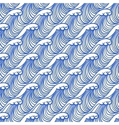 Linear pattern with ocean waves vector