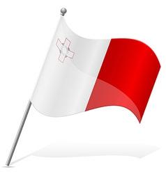 Flag of malta vector