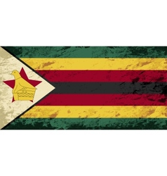 Zimbabwean flag grunge background vector