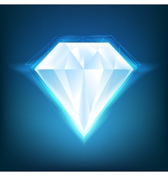 Shiny diamond background vector