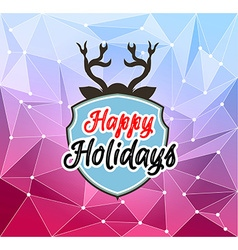 Happy holiday and merry christmas seasonal vector