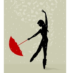 Girl dances vector
