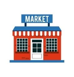 Market outside design vector