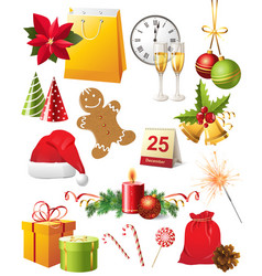 Great christmas elements set vector
