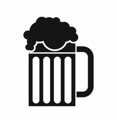 Beer mug icon simple style vector