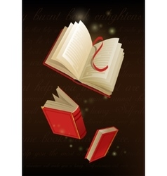 An opened magic book vector image