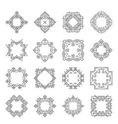 Aztec Frames vector image vector image