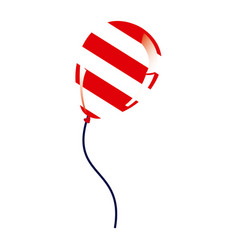 balloon with stripes independece day icon vector image vector image