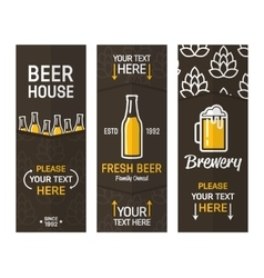 Beer vertical vintage banners vector image vector image