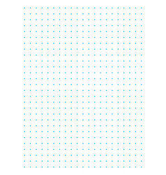 Blue full page centimeter dot paper vector