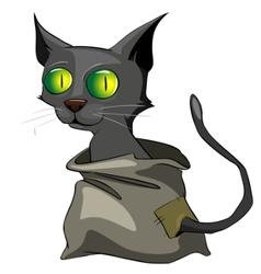 cartoon character cat vector image vector image