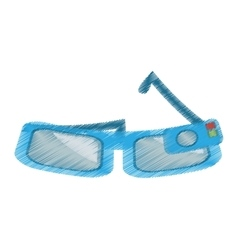 Cartoon smart glasses wearable device vector