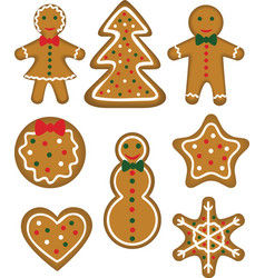 Christmas cookies set vector