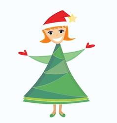 christmas mascot vector image