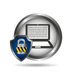 cloud security protection data center vector image