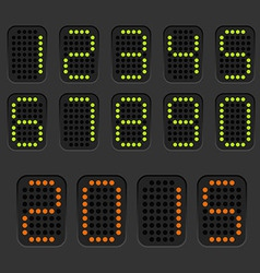 Counter with digits set vector image vector image