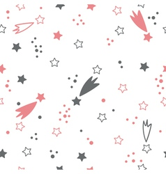 Cute seamless pattern with stars Space background vector image