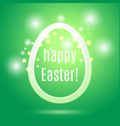 easter egg from strip on green with glow and bokeh vector image vector image