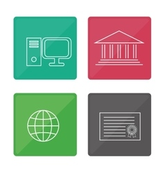 Education icons design vector
