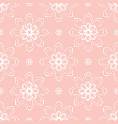 floral fine seamless pattern vector image