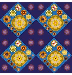 Flower tiles pattern vector