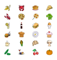 Food icons 3 vector