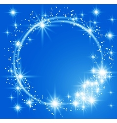Glowing blue background vector image