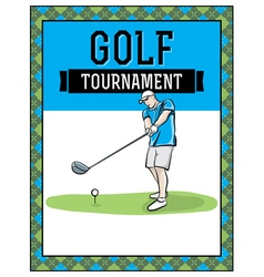 Golf flyer hand drawn vector
