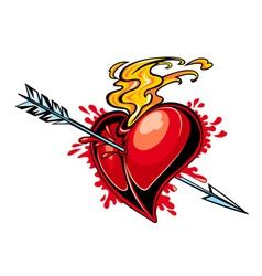 heart design tattoo vector image vector image