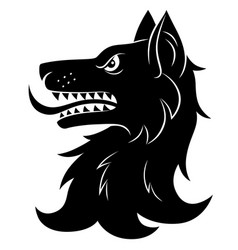 Heraldic wolf head vector
