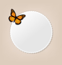 Label with butterfly vector