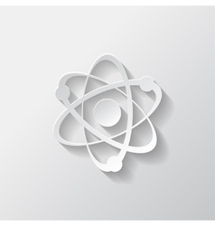 Molecule atom icon vector