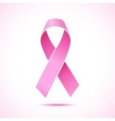 realistic pink ribbon icon vector image