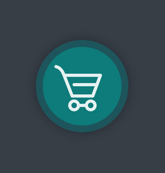 Shopping cart line icon pictogram for website vector