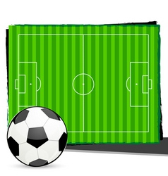 soccer with playground vector image