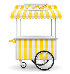 Street food cart hot dog vector