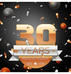 Thirty years anniversary celebration background vector