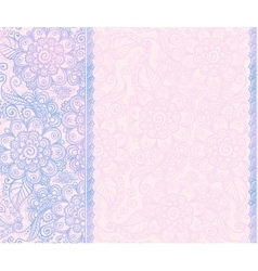 Trendy blue and pink colors floral vector image